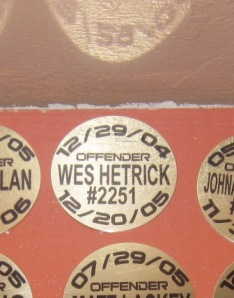"""""""My offender"""" plaque on the wall at Stubbies for trying 100 different beers in a year"""