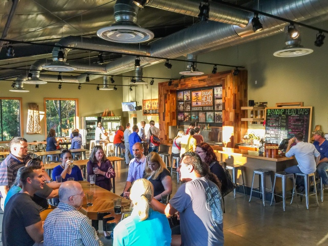 The Wetlands tasting room at Swamp Head Brewing in Gainesville Florida