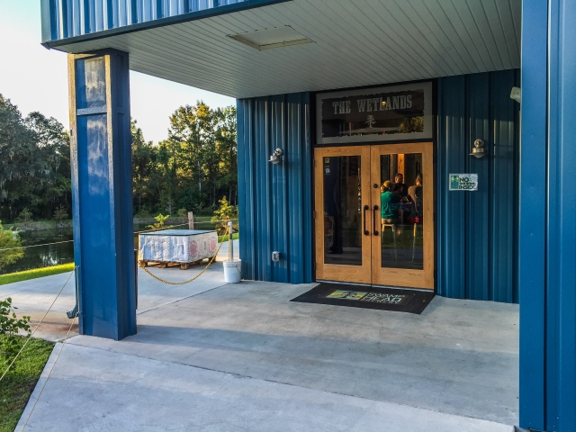 Entering the Wetlands at Swamp Head Brewing in Gainesville, Florida